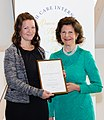 H.M. Queen Silvia and 2015 recipient of QSNA, Pernilla Rönntoft.jpg