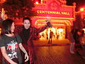 HK Disneyland USA Main Street Halloween night staff artist Oct-2013 007.JPG