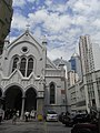 HK Mid-levels Caritas Centre 聖母無原罪主教座堂(The Hong Kong Catholic Cathedral of The Immaculate Conception blue sky Nov-2010.JPG