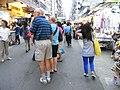 HK Mong Kok Fa Yuen Street evening wide walkway n stalls n visitors Sept-2012.JPG