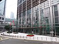 HK tram 64 view Admiralty 金鐘道 Queensway 長江集團中心 Cheung Kong Center front door n flagpoles December 2019 SSG 01.jpg