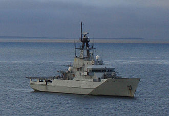Standing Royal Navy deployments - Clyde patrols off West Falkland