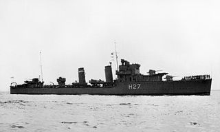 HMS <i>Electra</i> (H27) destroyer