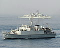 HMS Grimsby and HMS Monmouth During Exercise Khanjar Ha'ad near Oman. MOD 45153354.jpg