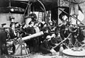HMS Vindictive crew with weapons after Zeebrugge Raid Apr 1918 IWM Q 55568.jpg