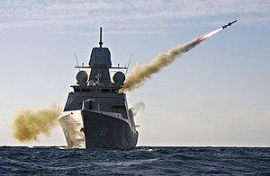 Missile - HNLMS ''De Zeven Provinciën'' (F802) firing a Harpoon