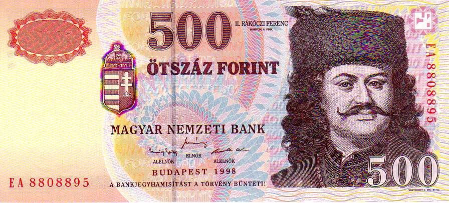 HUF 500 1998 obverse