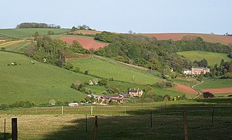 Haccombe - Setting of Haccombe House and St Blaise's parish church
