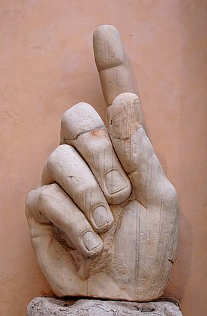 Colossus of Constantine - One of the two right hands of the Colossus (see text)