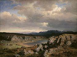 Hans Gude: Norwegian Highlands