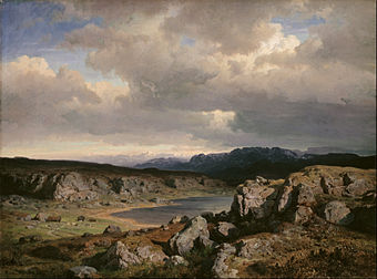 Hans Gude - Norwegian Highlands - Google Art Project