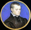 Hans Holbein the Younger - Portrait miniature of a young man (Royal Collection, Netherlands) 1.jpg