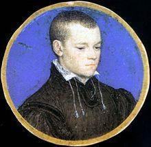 Hans Holbein la malpliaĝa - miniaturo de juna viro (Royal Collection, Nederlando) 1.jpg