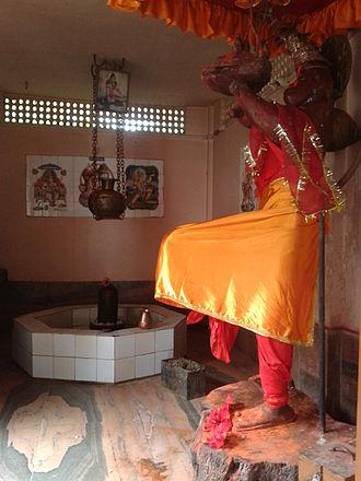 Tezpur - Stone statue of Lord Hanuman in Hanuman Mandir, Tezpur