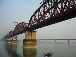 Padma River - Hardinge Bridge in Bangladesh