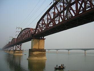 Padma River - Hardinge Bridge in Bangladesh