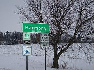 Harmony, Minnesota - Harmony, Minnesota signpost