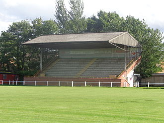 Grandstand - Image: Harrogate Rugby Club, Claro Road Ground (12th August 2014) 002