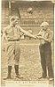 Harry Lyons and Billy Taylor, Philadelphia Quakers, baseball card portrait LCCN2007680727.jpg