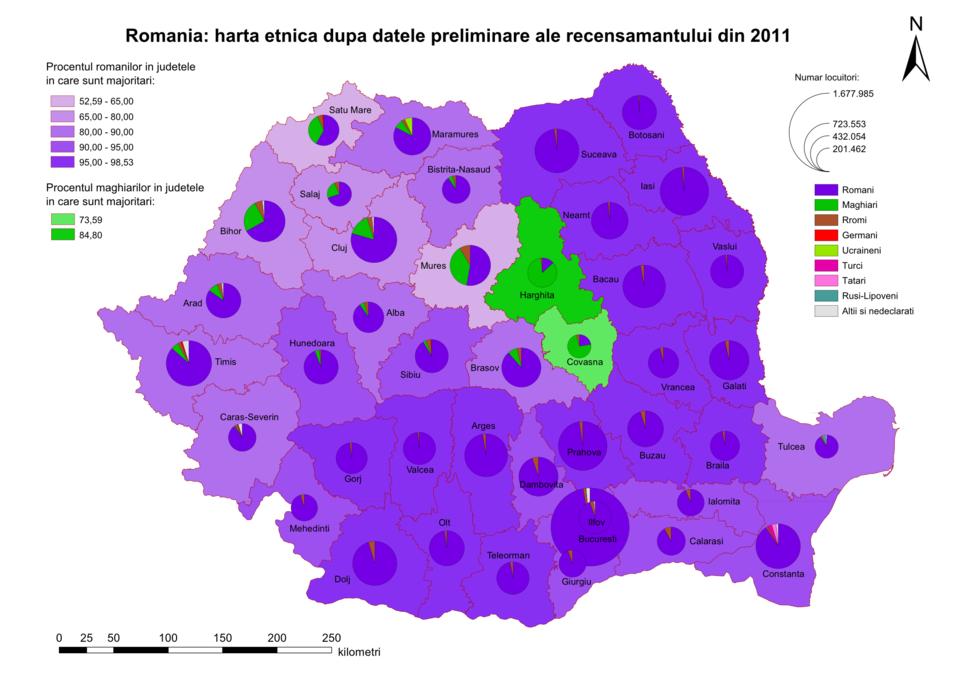 Harta etnica 2011 JUD
