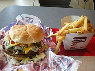 Harvey's - A Harvey's double burger plus fries