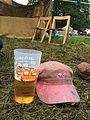 Hat and Pint at Eden Festival in 2014.JPG