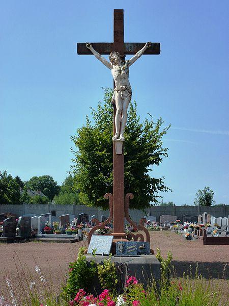 Haulchin (Nord, Fr) croix de cimetière