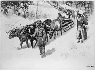 Train (military) - Train for the Siege of Boston, 1775