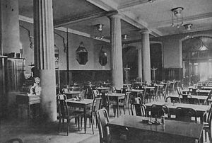 Antoni Hawełka - Old interior view of Pod Palmą