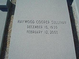Haywood Sullivan - Sullivan's tomb