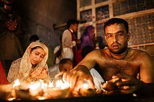Shrine of Lal Shahbaz Qalandar - The shrine attracts both Muslim and Hindu devotees.