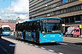 HelB bus on HRT bus line in Hakaniemi, Helsinki.JPG