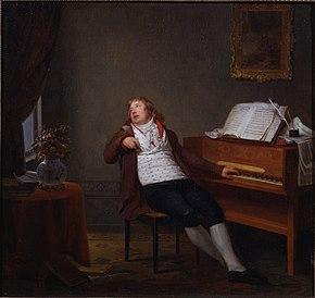 Henri-Pierre Danloux: Johann Ladislaus Dussek am Klavier (1795) (Quelle: Wikimedia)