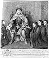 Henry VIII presenting document of union, 1540, after Holbein Wellcome L0004543.jpg