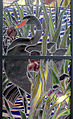 Henry carot su cartone di albert besnard, vetrata con cigni sul lago d'annecy dalla casa del pittore henry lerolle a parigi, 1890, 04.JPG