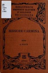 Ησίοδος: Hesiodi Carmina