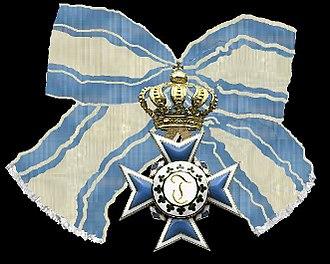 Order of Theresa - Image: Het kruisvan een dame in de orde van Theresia Beieren 1827