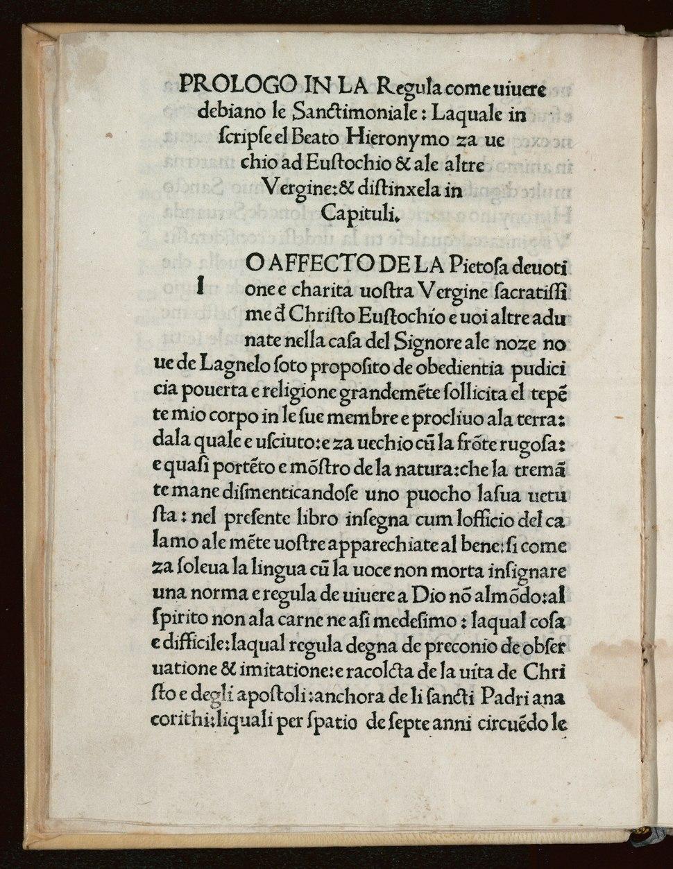 Hieronymus - Ordo seu regula vivendi Deo ad Eustochium, a di XXYIII de martio MCCCCLXXXXYIII - 2968573 Scan00016
