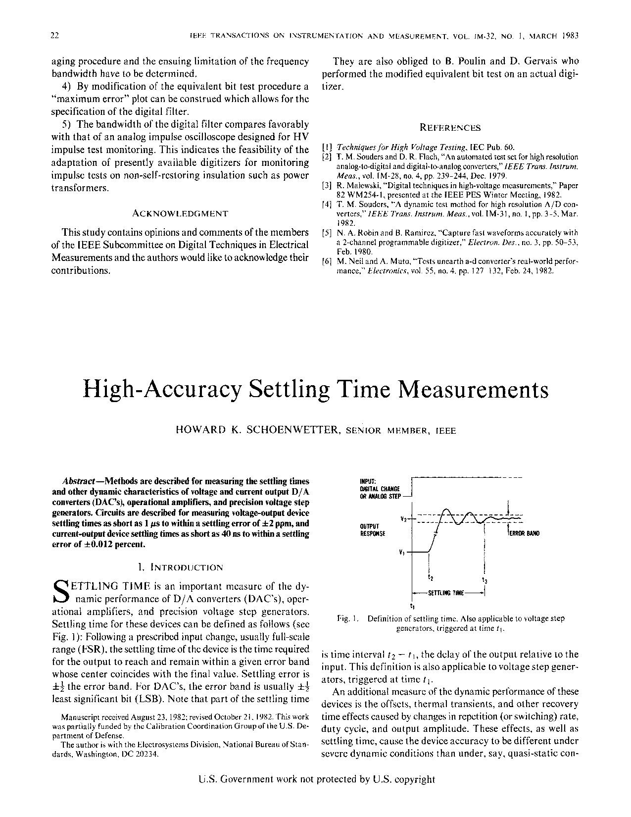High Accuracy Settling Time Measurements Wikisource The Free Figure 2 Voltage Divider Setting Comparator Input Online Library