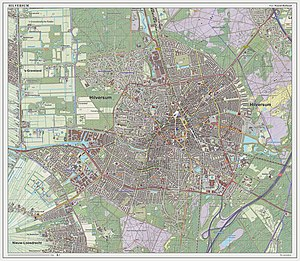 Hilversum - Dutch Topographic map of the city of Hilversum, March 2014