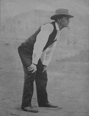 Hiram Gill - Hiram Gill umpiring baseball.
