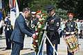 His Excellency Mihai Fifor, Romanian Minister of National Defence, Participates in an Armed Forces Full Honors Wreath-Laying Ceremony at the Tomb of the Unknown Soldier as Part of His Official Visit to the US (37332917085).jpg