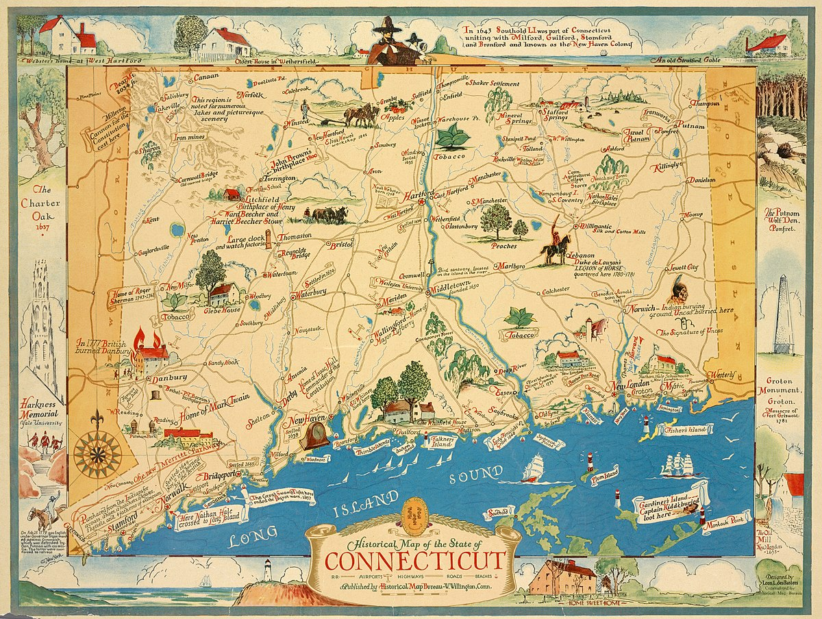 File:Historical map of the state of Connecticut (NYPL ...