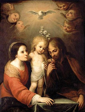 English: Holy Family, Mary, Joseph, and child ...
