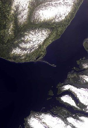Homer Spit - The spit from space