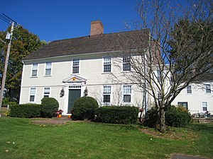 Choate Rosemary Hall - The Homestead, built 1774. A small door leads to a secret passage behind the chimney that may have been a station on the Underground Railroad.