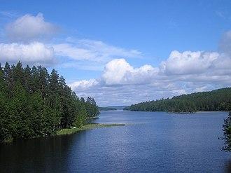 Luhanka - Image: Hopeasalmi, Päijänne