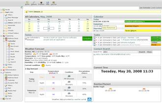 Horde (software) - Image: Horde portal