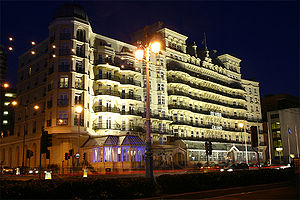 Brighton hotel bombing - The Grand Hotel at night, 2006