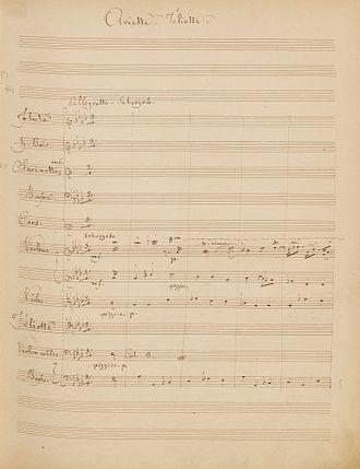Gilbert Duprez - Duprez's original manuscript from Jéliotte, 1853